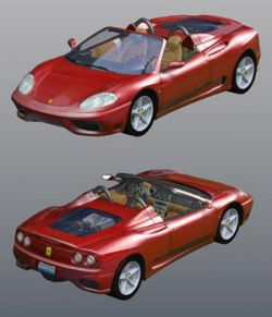 Ferrari 360 Spider 2000 (for Poser)
