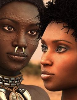 Queens of the Savannah- HD Faces and Morphs