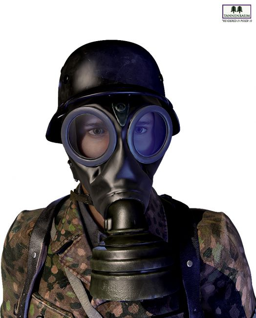German Gas Mask Props For Poser And Daz Studio
