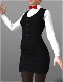 Waitress Uniform for Genesis 2 Female(s)