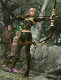 Woodland Huntress for Genesis 2 Female(s)