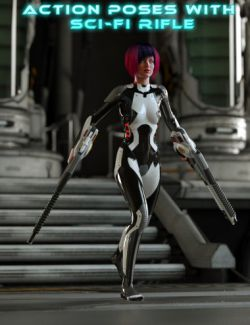 Action Poses with Sci-Fi Rifle for Genesis 2 Female(s)