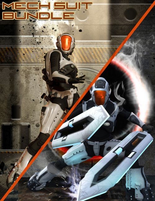 Mech Gear for Genesis 2 Male and Female Bundle