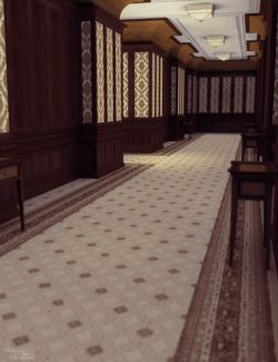 Decadent Hotel Hallway