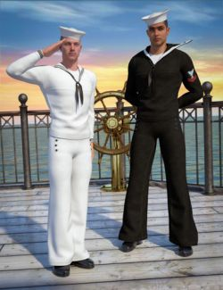 Naval Uniform for Genesis 2 Male(s)