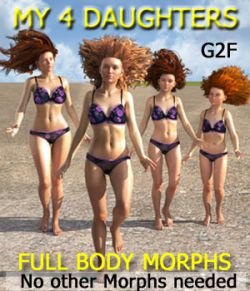 MY 4 DAUGHTERS- Full Body Morphs for G2F/ V6