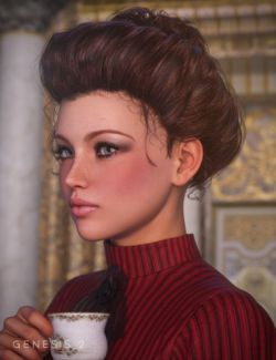 Edwardian Hair for Genesis and Genesis 2 Females