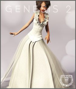 Spring Bride Gown for Genesis 2 Female(s)