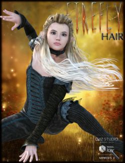 FireFly Hair for Genesis 2 Female(s) and V4