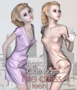 """Basic Clothing for V4 """"The Dress Teen"""""""
