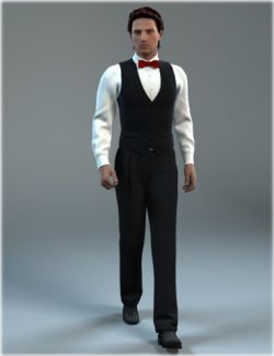Waiter Uniform for Genesis 2 Male(s)