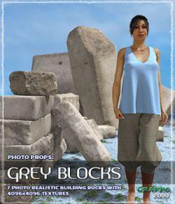 Photo Props: Grey Blocks
