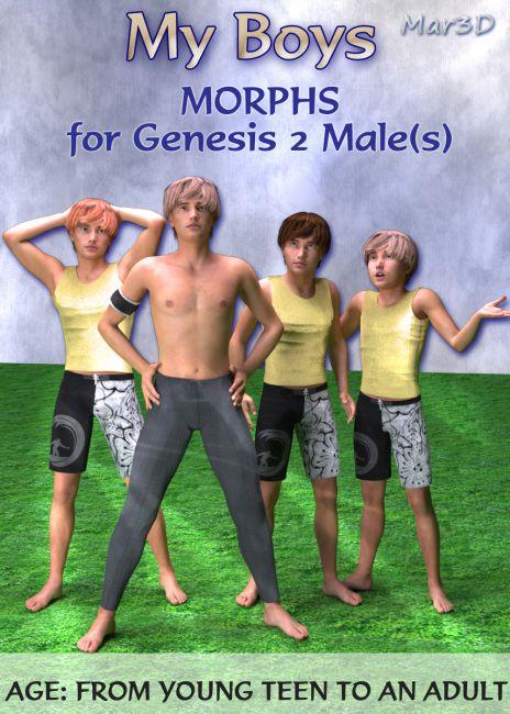 MY BOYS  Custom Body Morphs for Genesis 2 Male(s)