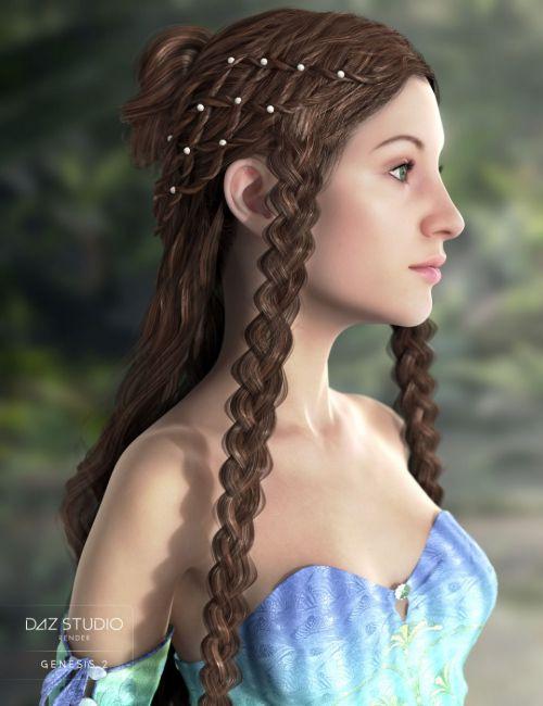 Nimue Hair for Genesis 2 Female(s)