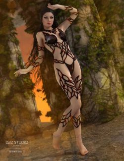 Molten Outfit for Genesis 2 Female(s)