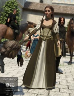 Arthurian Outfit for Genesis 2 Female(s)