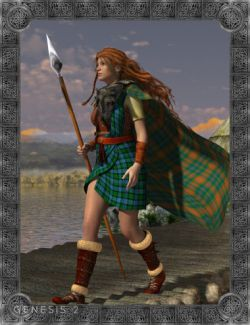 Celtic Maeve Outfit for Genesis 2 Female(s)