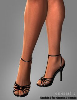 Sandals 2 for Genesis 2 Female(s)