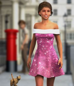 Club Monaco Textures for G2F Shoulder Dress