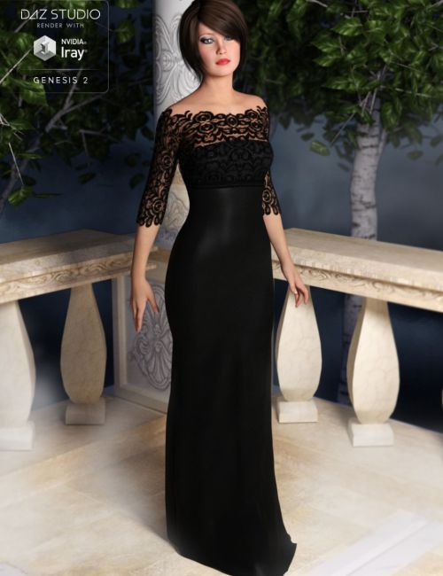 Classic Evening Gown for Genesis 2 Female(s)