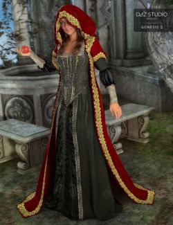 Medieval Princess Gown for Genesis 2 Female(s)
