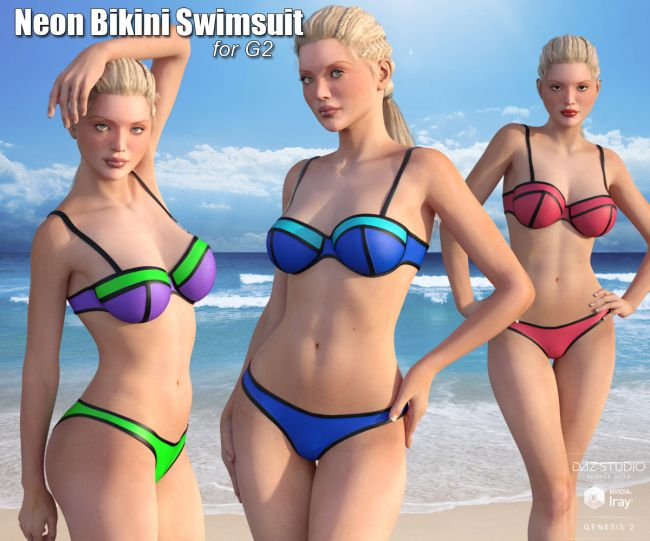 Neon Bikini Swimsuit for G2