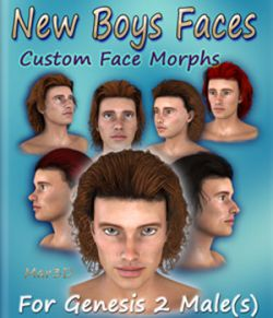 New Boys Faces for G2M Custom Head Morphs