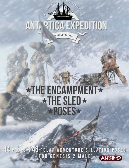 Antarctica Expedition: The Encampment, Sled and Poses