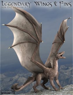 Legendary Wings & Fins HD for DAZ Dragon 3