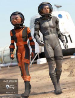 Retro Space Suit Textures