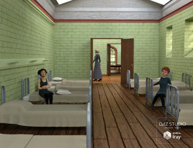 The Old Orphanage 3d Models For Poser And Daz Studio