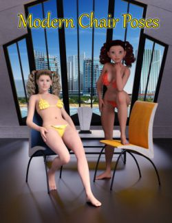 Slide3D Modern Chair Poses for Genesis 2 Female(s) and Callie 6