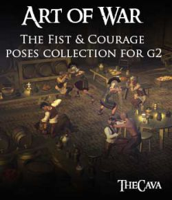 Art of War- The Fist & Courage Poses for Genesis2