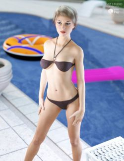 Halter Neck Bikini for Genesis 3 Female(s)