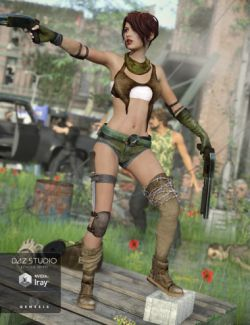 Post Apocalyptic Outfit for Genesis 3 Female(s)