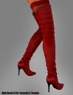 High Boots 5 for Genesis 3 Female(s)