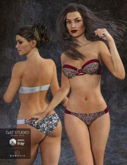 Bandeau Bikini Lingerie Textures