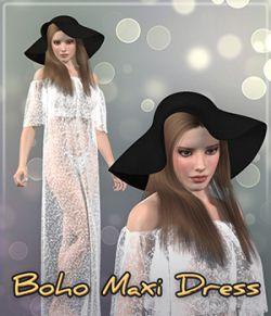 Dynamic Boho Maxi Dress & Hat