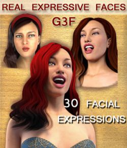 REAL EXPRESSIVE FACES for G3F - facial expressions