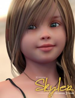 Skyler Character and Hair for Genesis 3 Female(s)