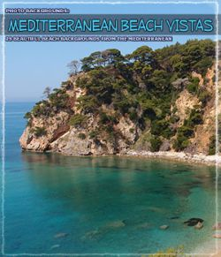 Photo Backgrounds: Mediterranean Beach Vistas