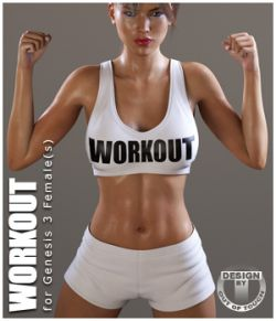 Workout Outfit for Genesis 3 Female(s) / V7