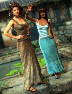Maxi Skirt Outfit Textures