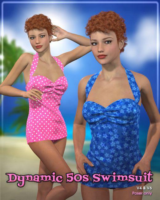 Dynamic 50s Swimsuit
