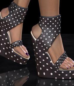 COSMOPOLITAN - S1M Scarlet: Footwear - Ankle Cuff Platform Wedge