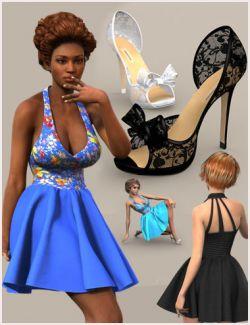 W Skirt Bow Heels Bundle