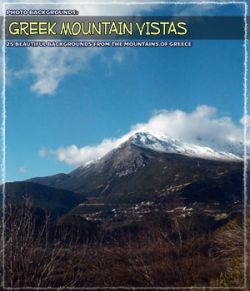 Photo Backgrounds: Greek Mountain Vistas