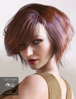 Brady Hair for Genesis 3 Female(s)