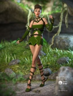 Greenleaf Outfit for Genesis 3 Female(s)