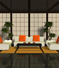 Asian-Styled Living Room Set